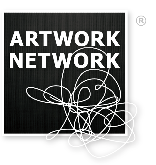 Artwork Network Logo: Square with Squiggle Going Outside the Box
