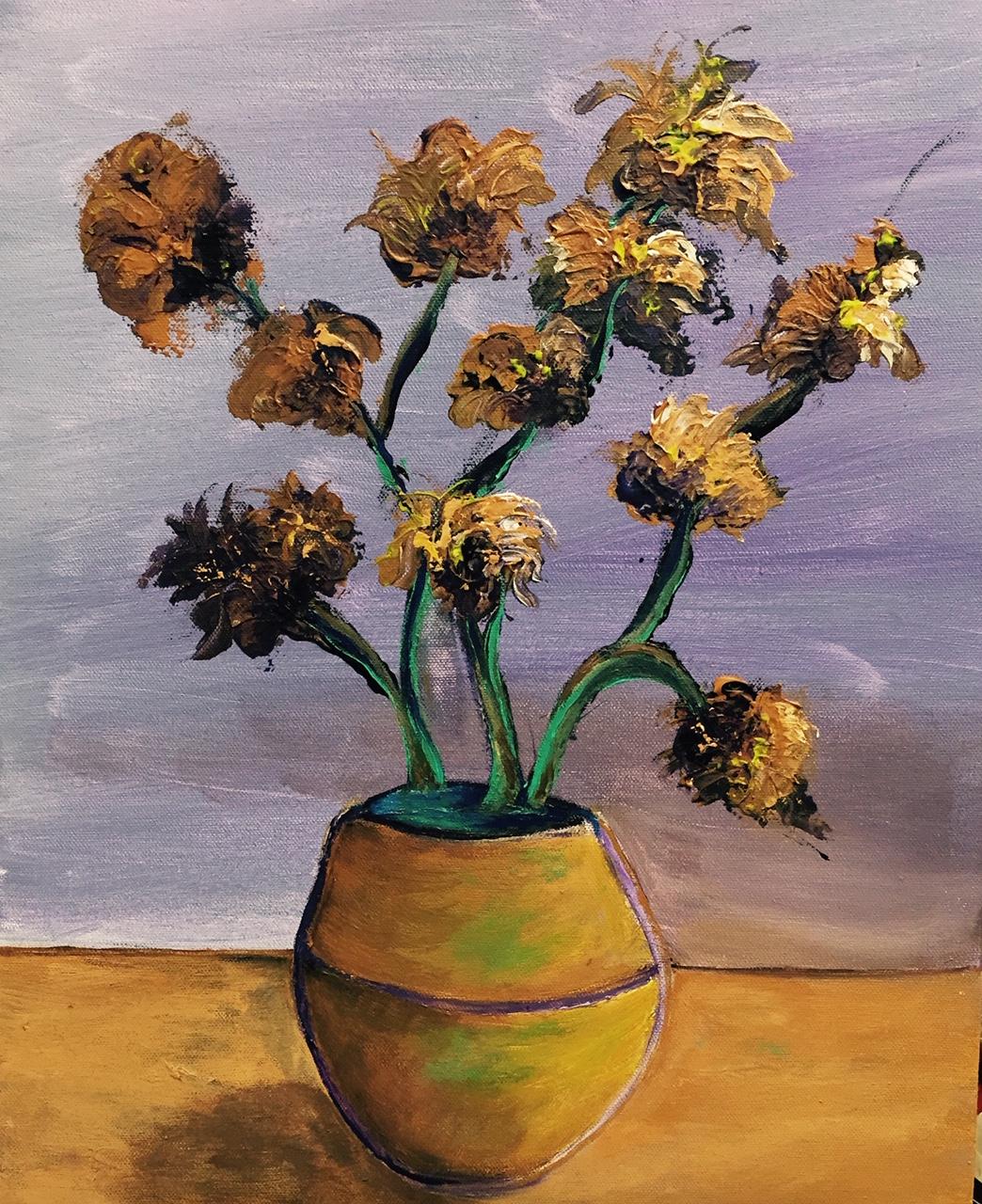 Golden Vase by Patrick Irish | ArtworkNetwork.com