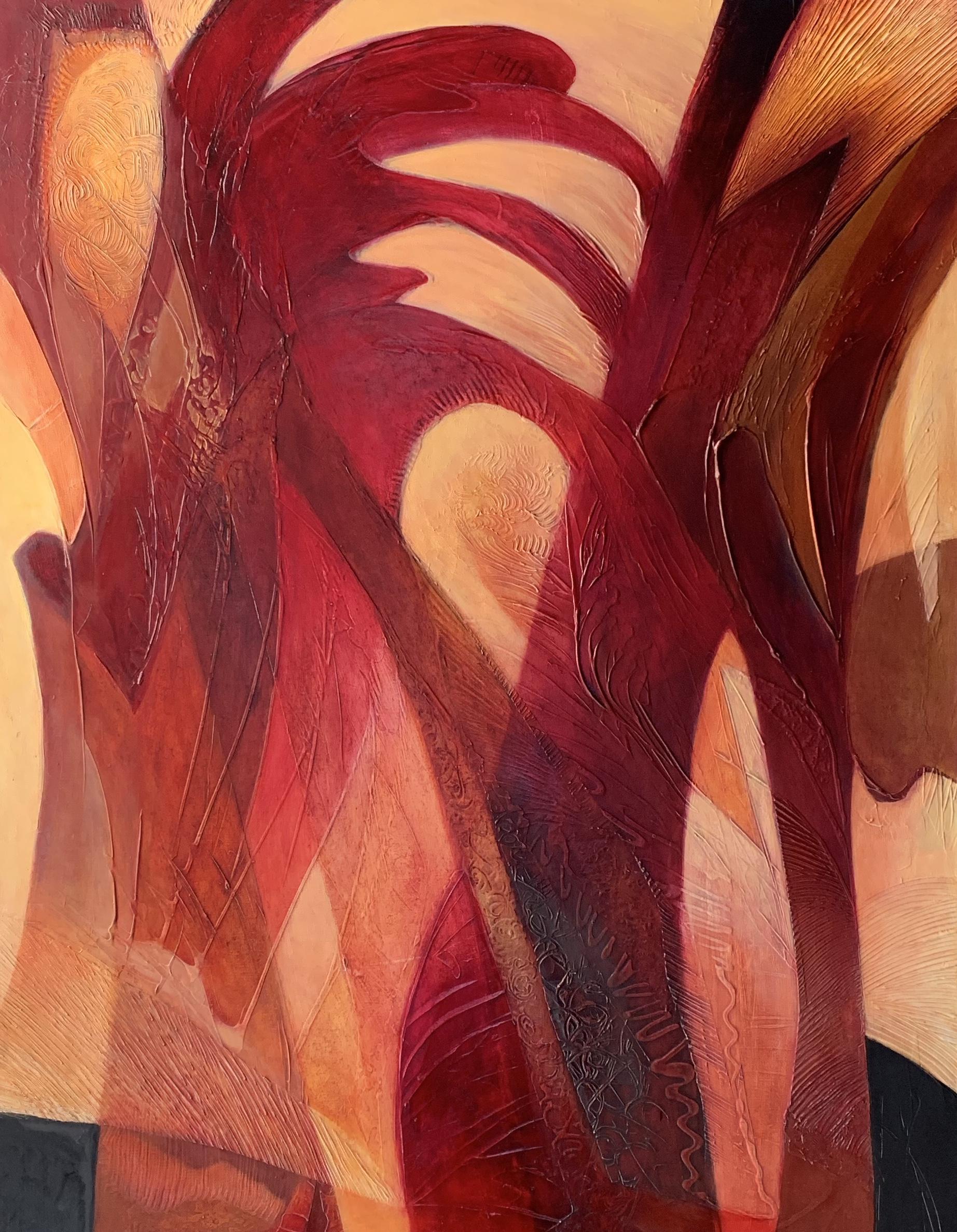 composition in crimson by Ulla Meyer | ArtworkNetwork.com
