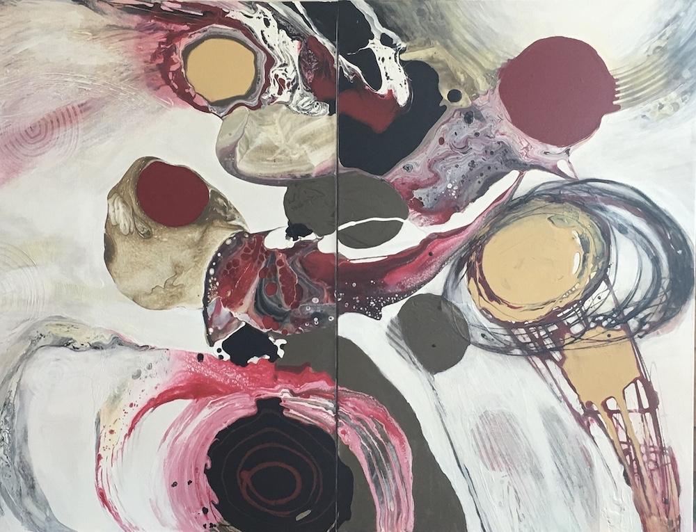 celebration III - dyptique by Ulla Meyer | ArtworkNetwork.com