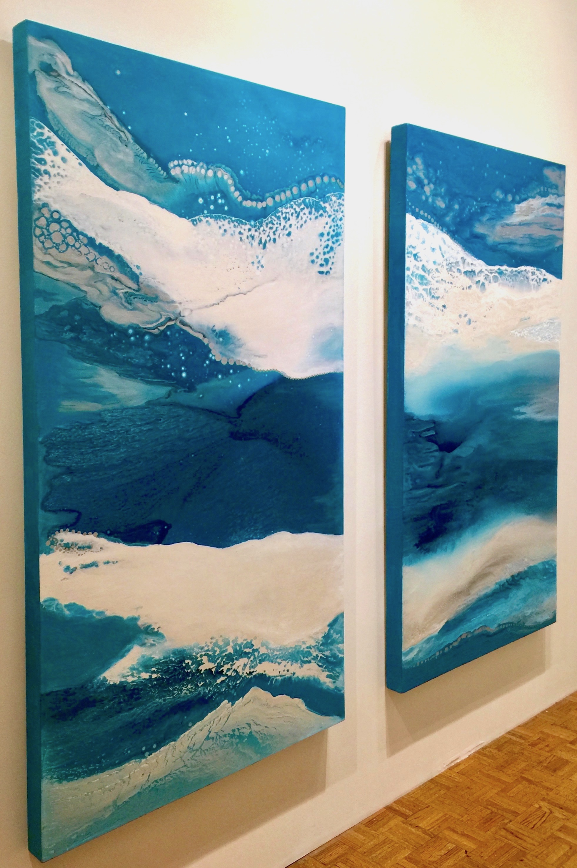 Downward Waves one and two by Gabrielle Shannon | ArtworkNetwork.com