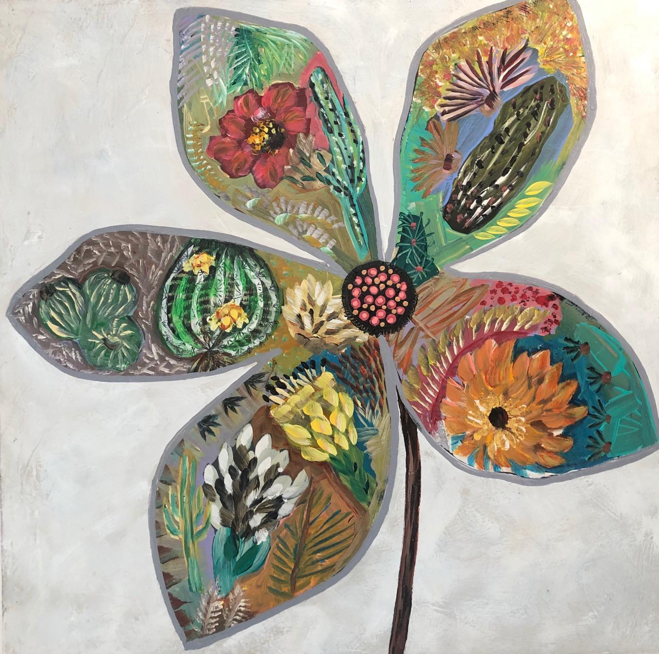 SVB19-WHITE FLOWER 1 by Sarah Van Beckum | ArtworkNetwork.com