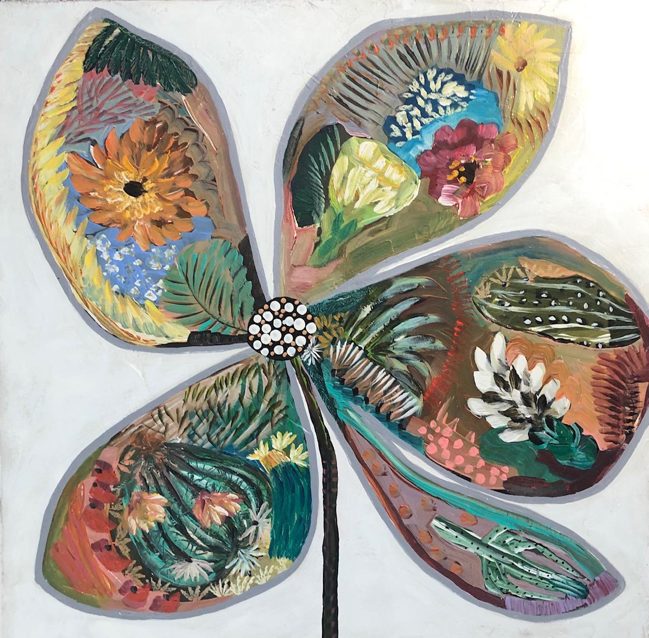 SVB19-WHITE FLOWERS 3 by Sarah Van Beckum   ArtworkNetwork.com