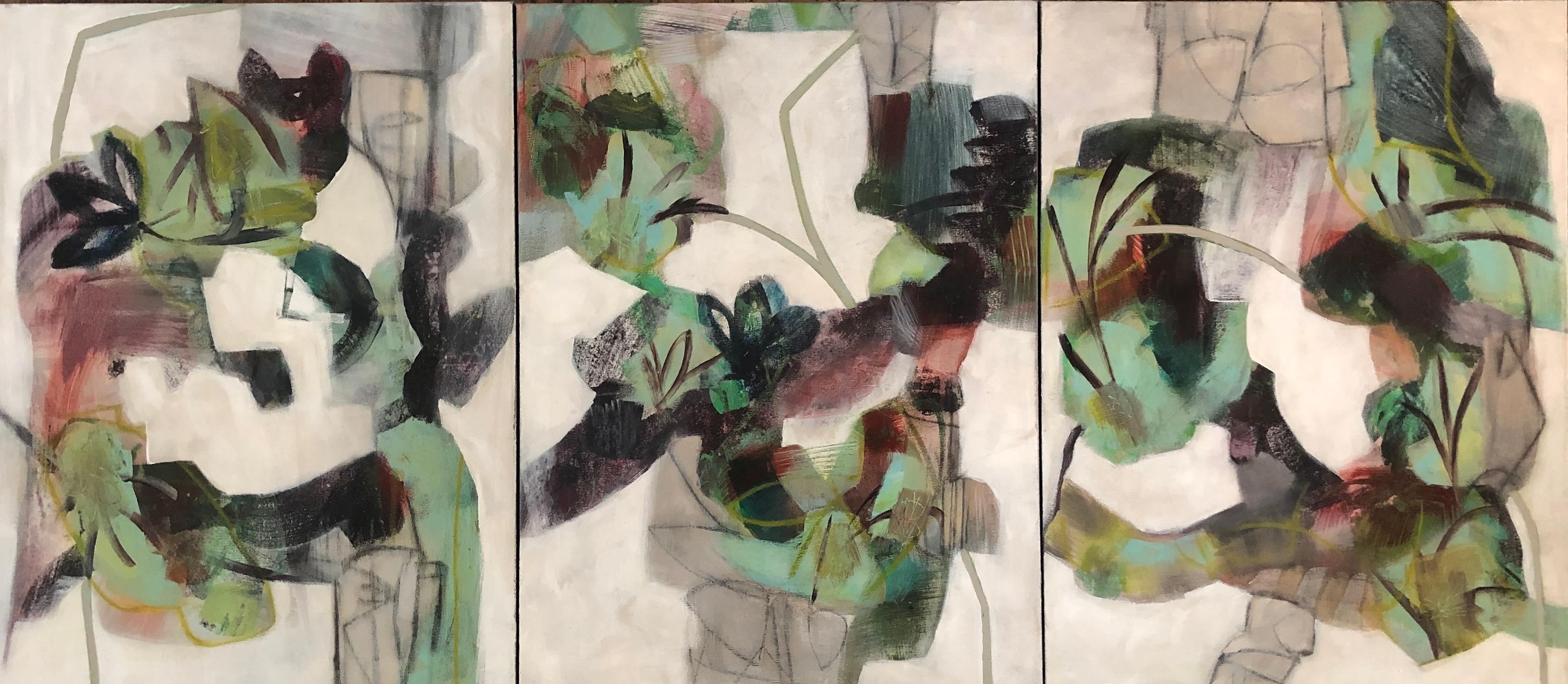 Vine I  II  III Triptych by Sarah Van Beckum   ArtworkNetwork.com