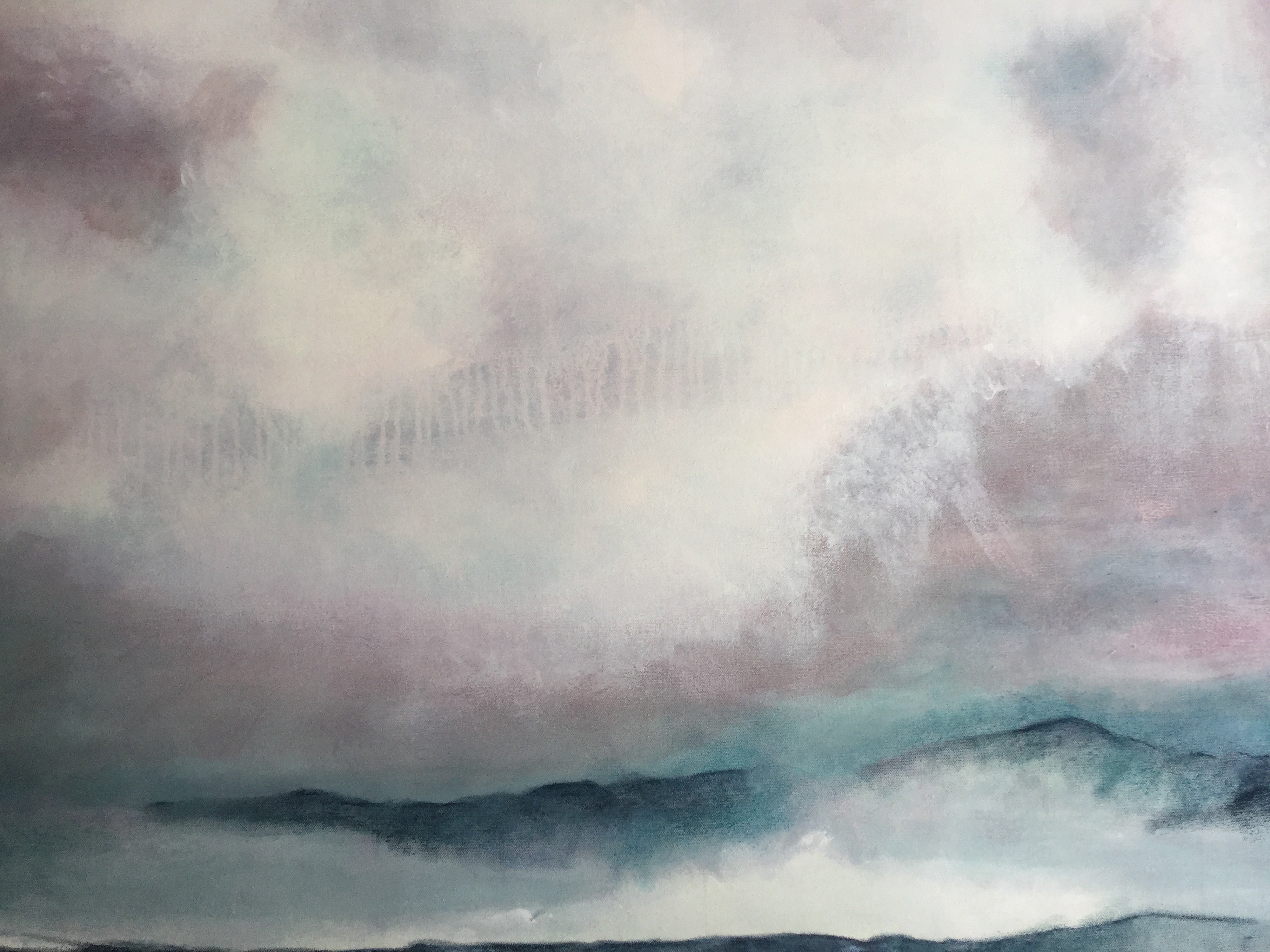 Clouds and Sea by Barb Hinnenkamp | ArtworkNetwork.com