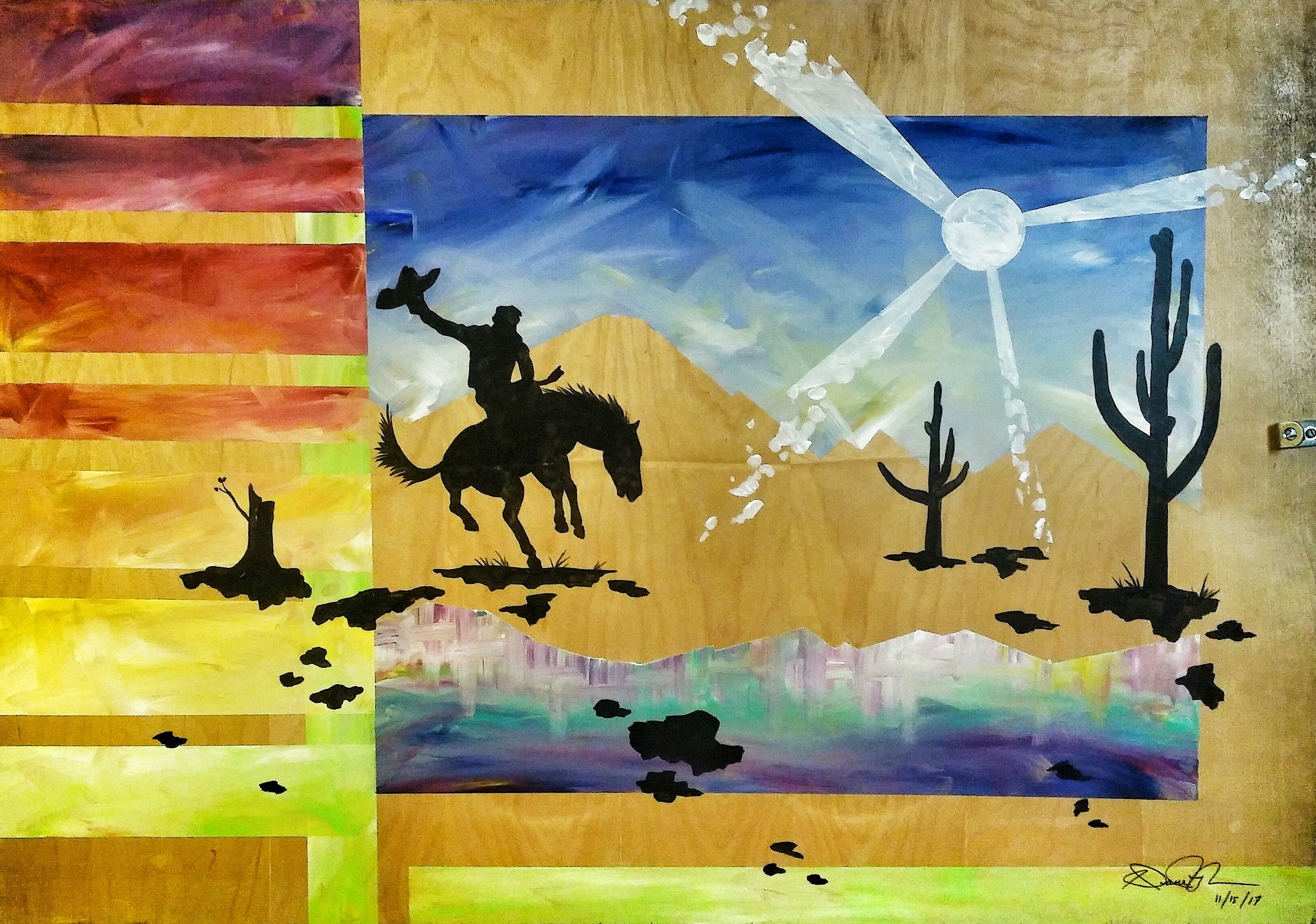 Buckin' Bronc by Dane Hyman | ArtworkNetwork.com