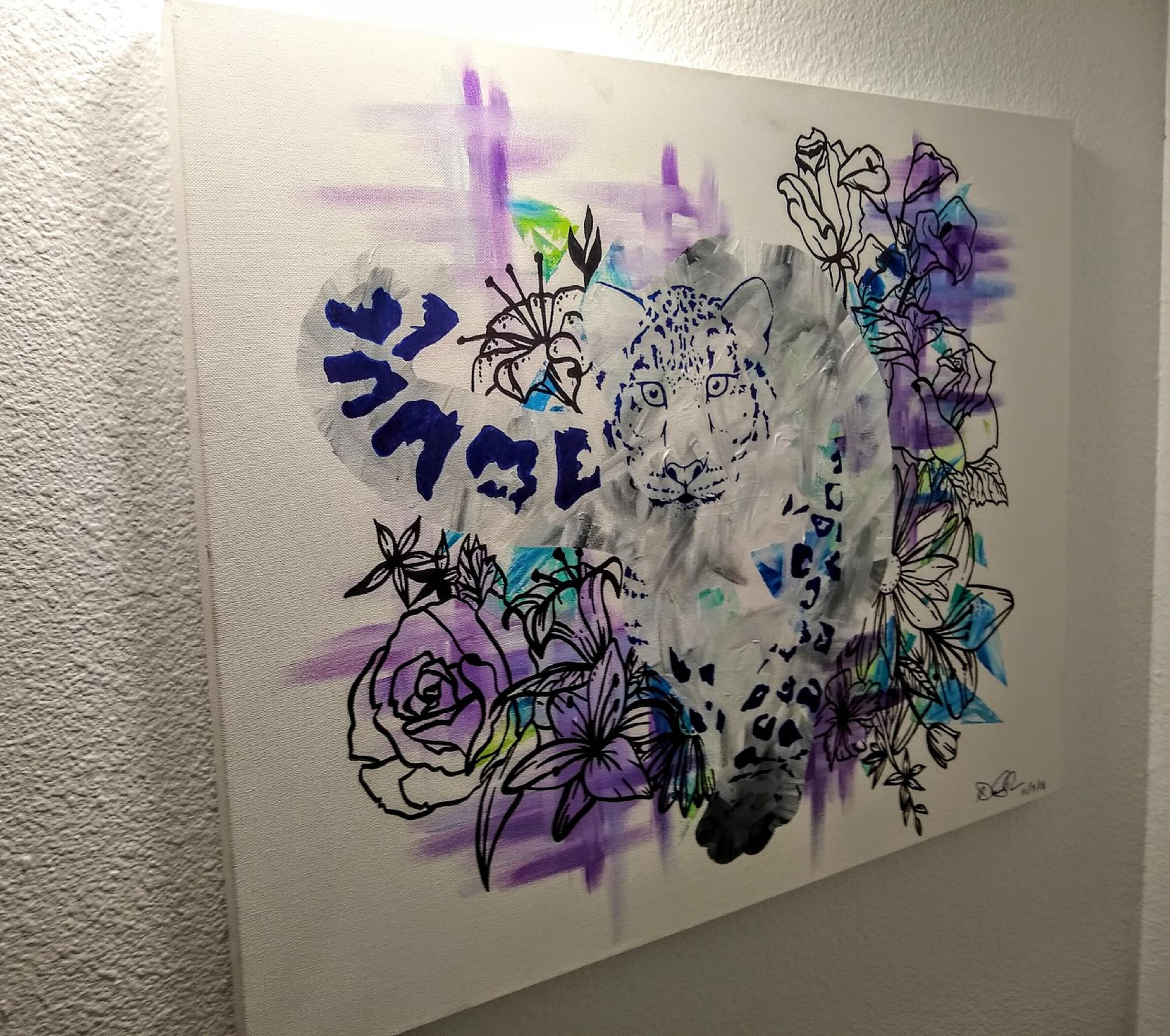 Snow Leopard by Dane Hyman | ArtworkNetwork.com