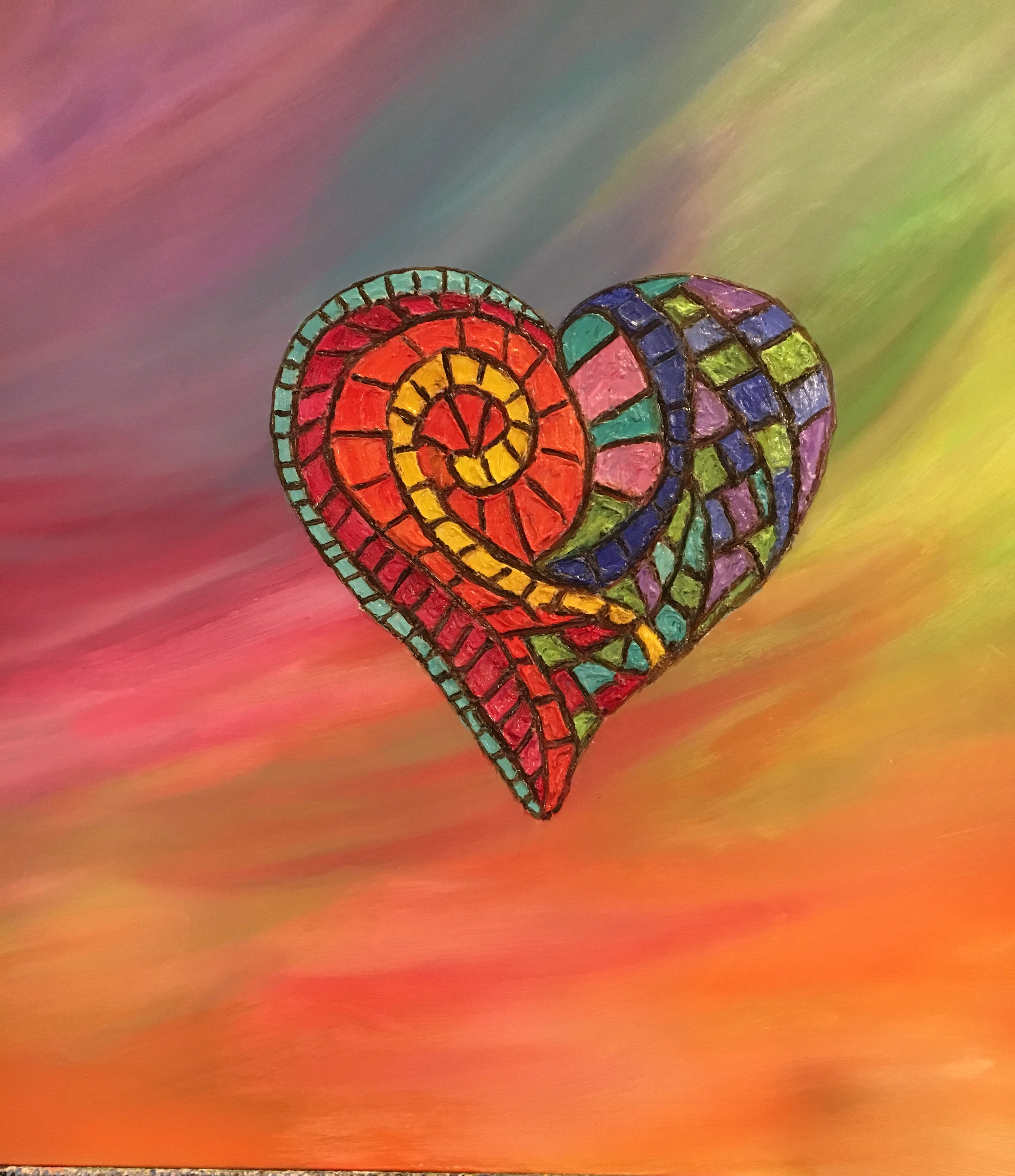 Mosaic Heart by Marylin Kitchen | ArtworkNetwork.com