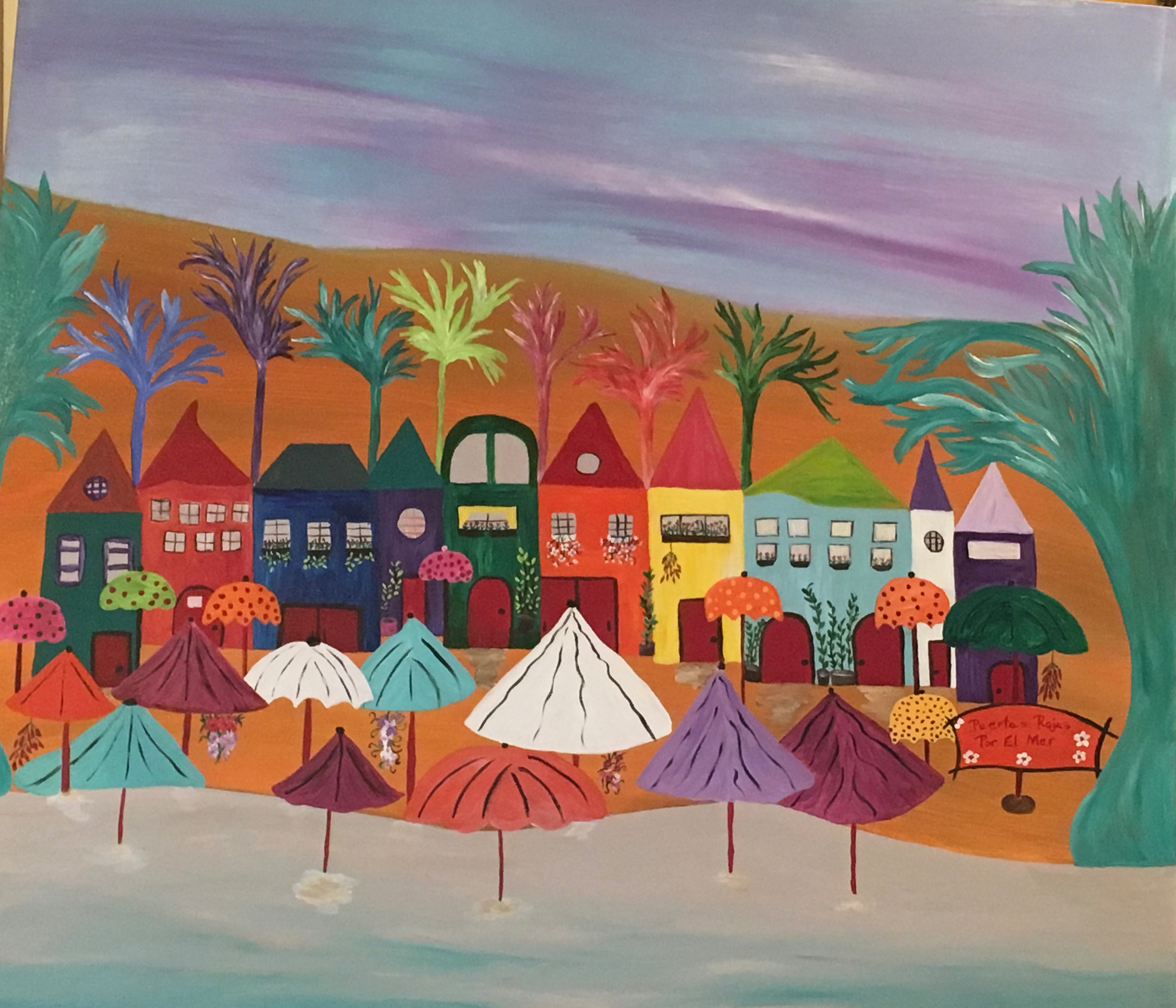 Sea Village by Marylin Kitchen | ArtworkNetwork.com