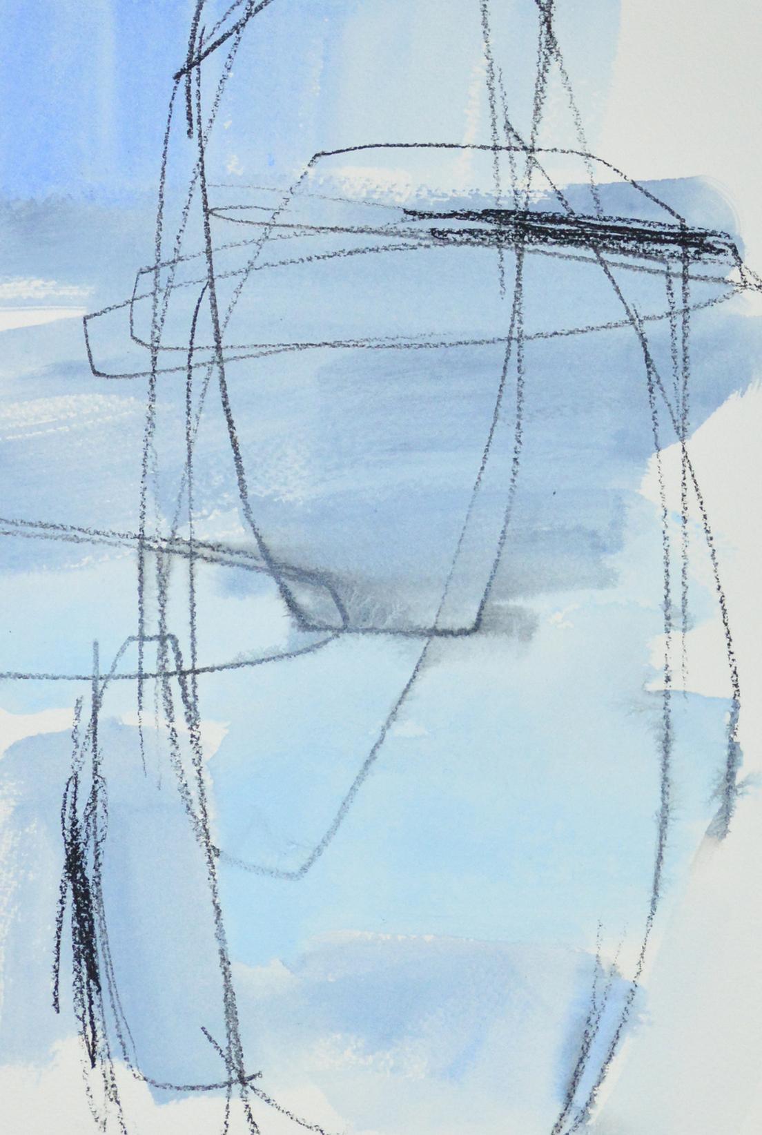 Ellipses: Pale Blue by Julia Rymer   ArtworkNetwork.com