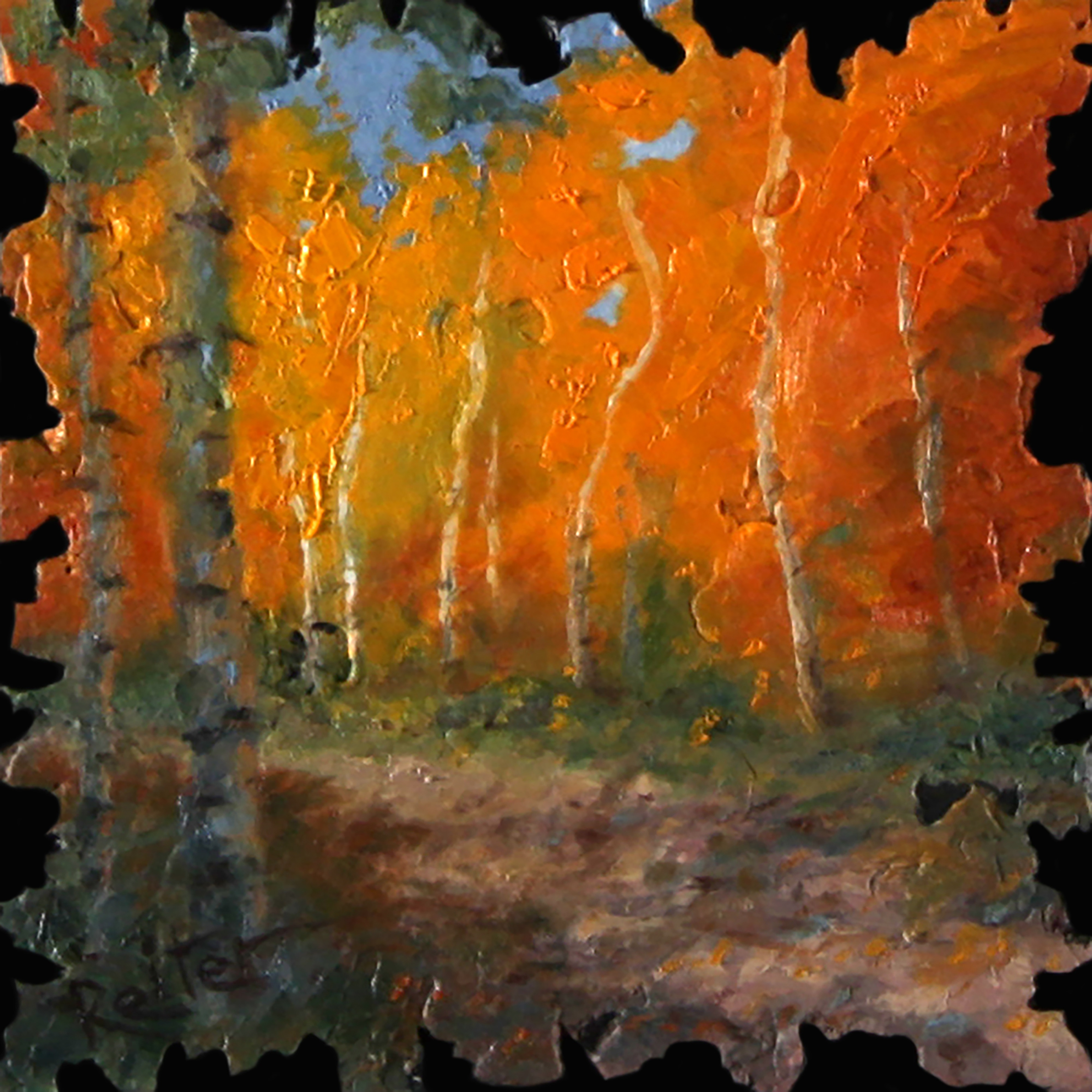 """Autumn Aspens VIII"" (8) by Dave Reiter 
