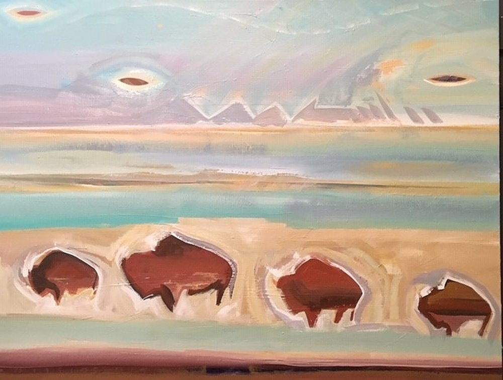 ufo an buffalo by Kevan Krasnoff | ArtworkNetwork.com