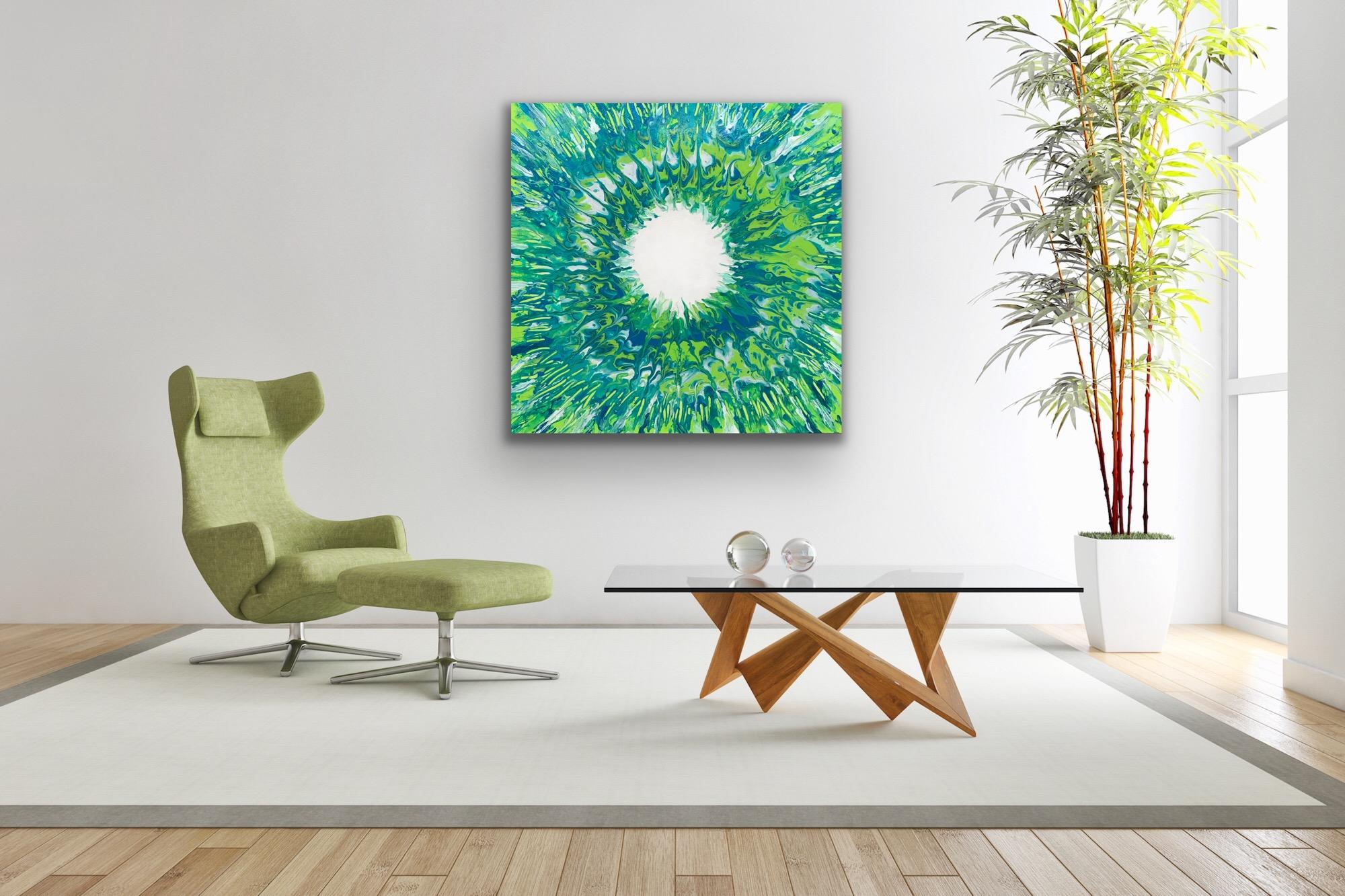 Aqua Twirl by Amanda Stavast | ArtworkNetwork.com