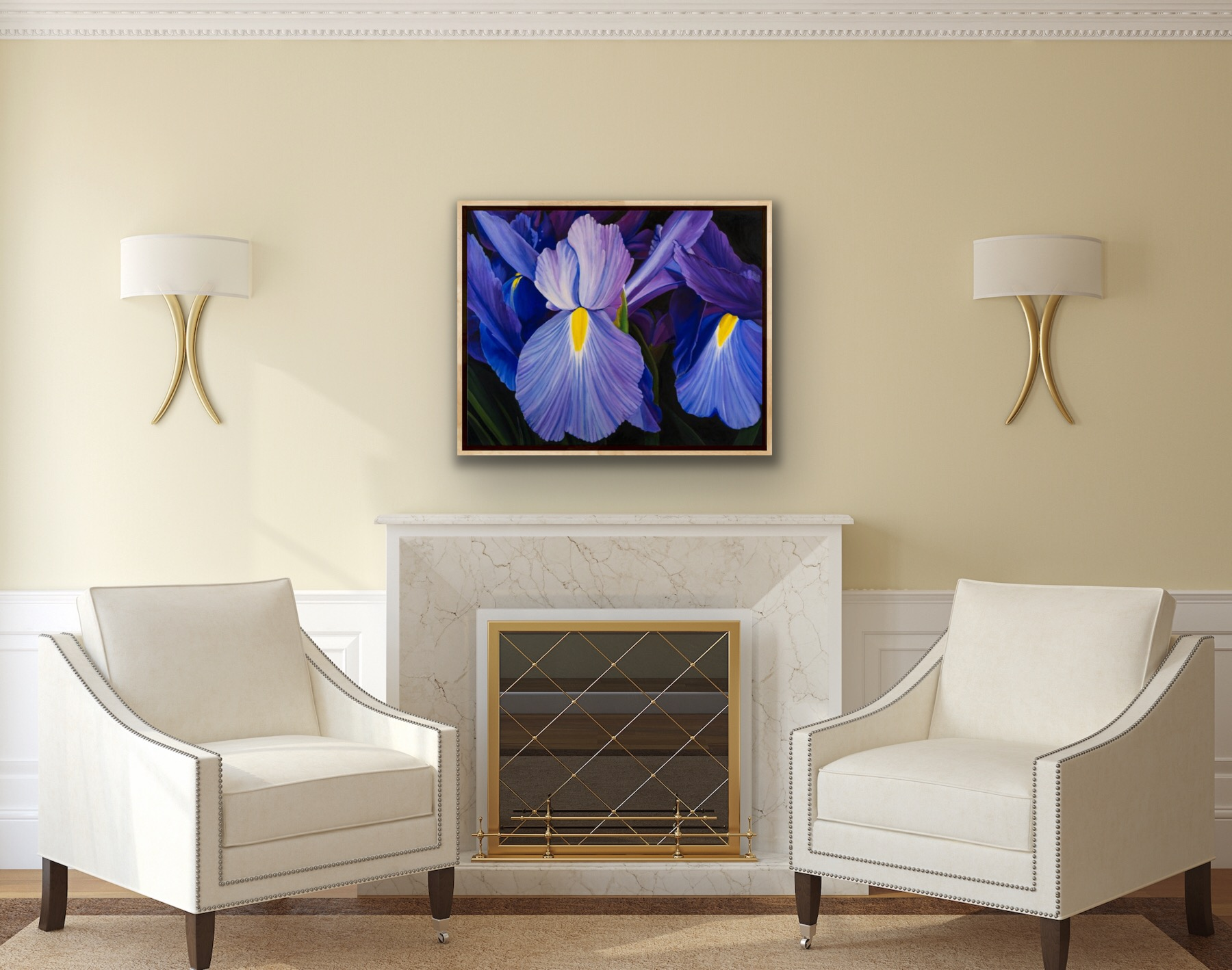 Dutch Irises by Amanda Stavast | ArtworkNetwork.com