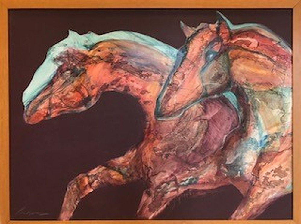 turquoise shadow by Karen Poulson | ArtworkNetwork.com