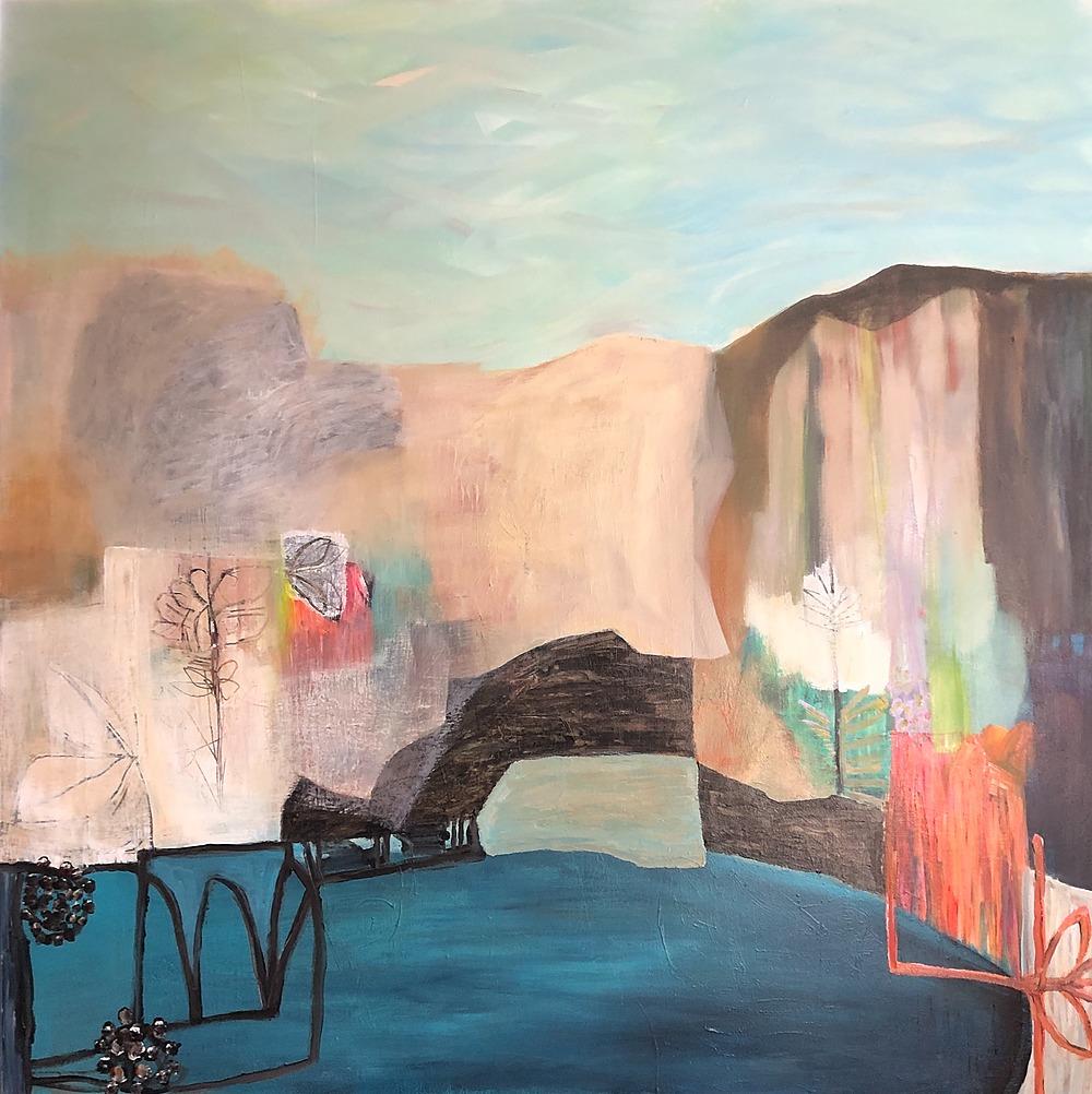 "Places We Cannot Go 48X48"" $3800 by Sarah Van Beckum   ArtworkNetwork.com"