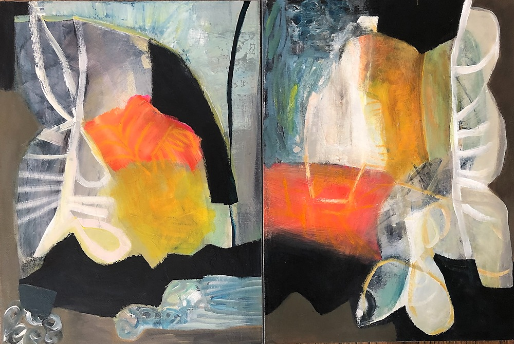 Pulse Diptych by Sarah Van Beckum | ArtworkNetwork.com