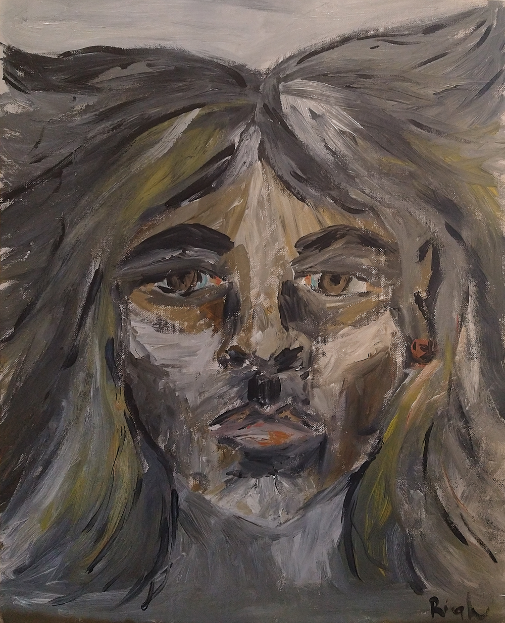 Woman's Face 1 by Anca Rightmire | ArtworkNetwork.com