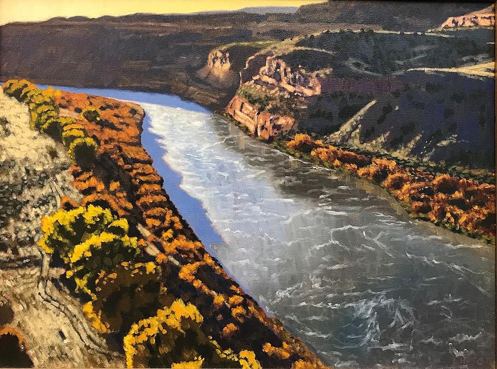 Fall On The Horsethief Bench by John Lintott   ArtworkNetwork.com