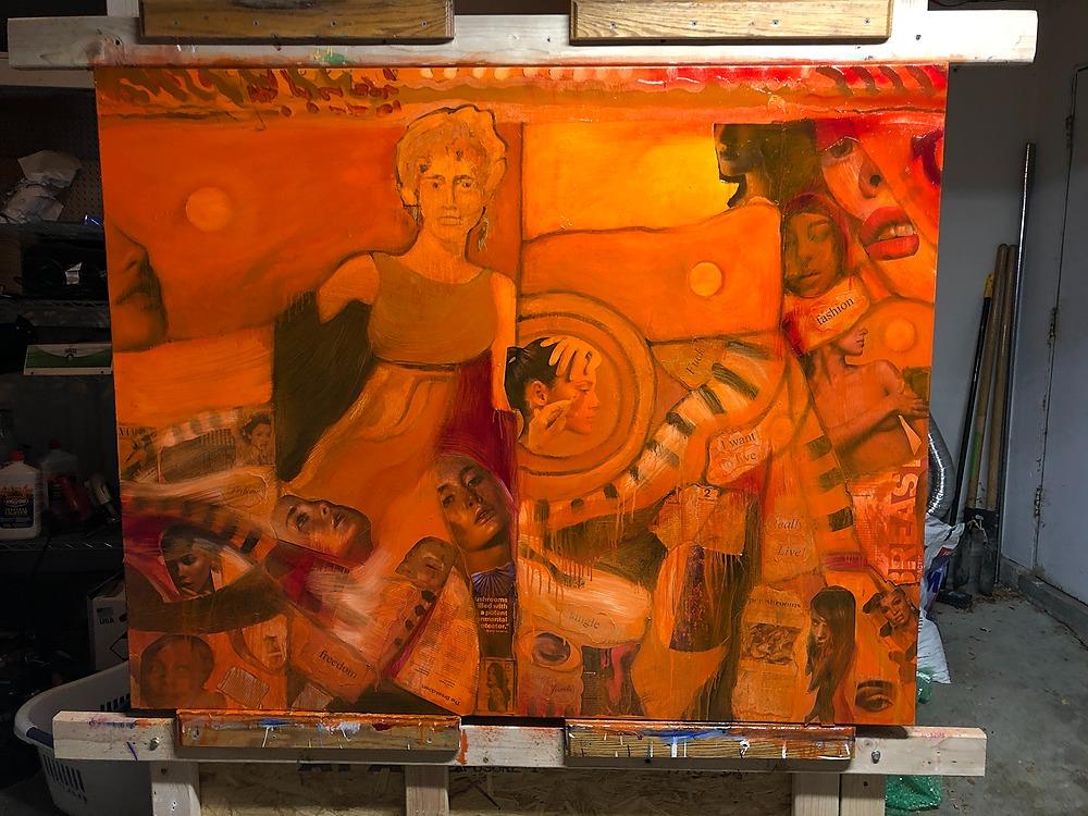 Composition  17 by RONALD DAVIS | ArtworkNetwork.com